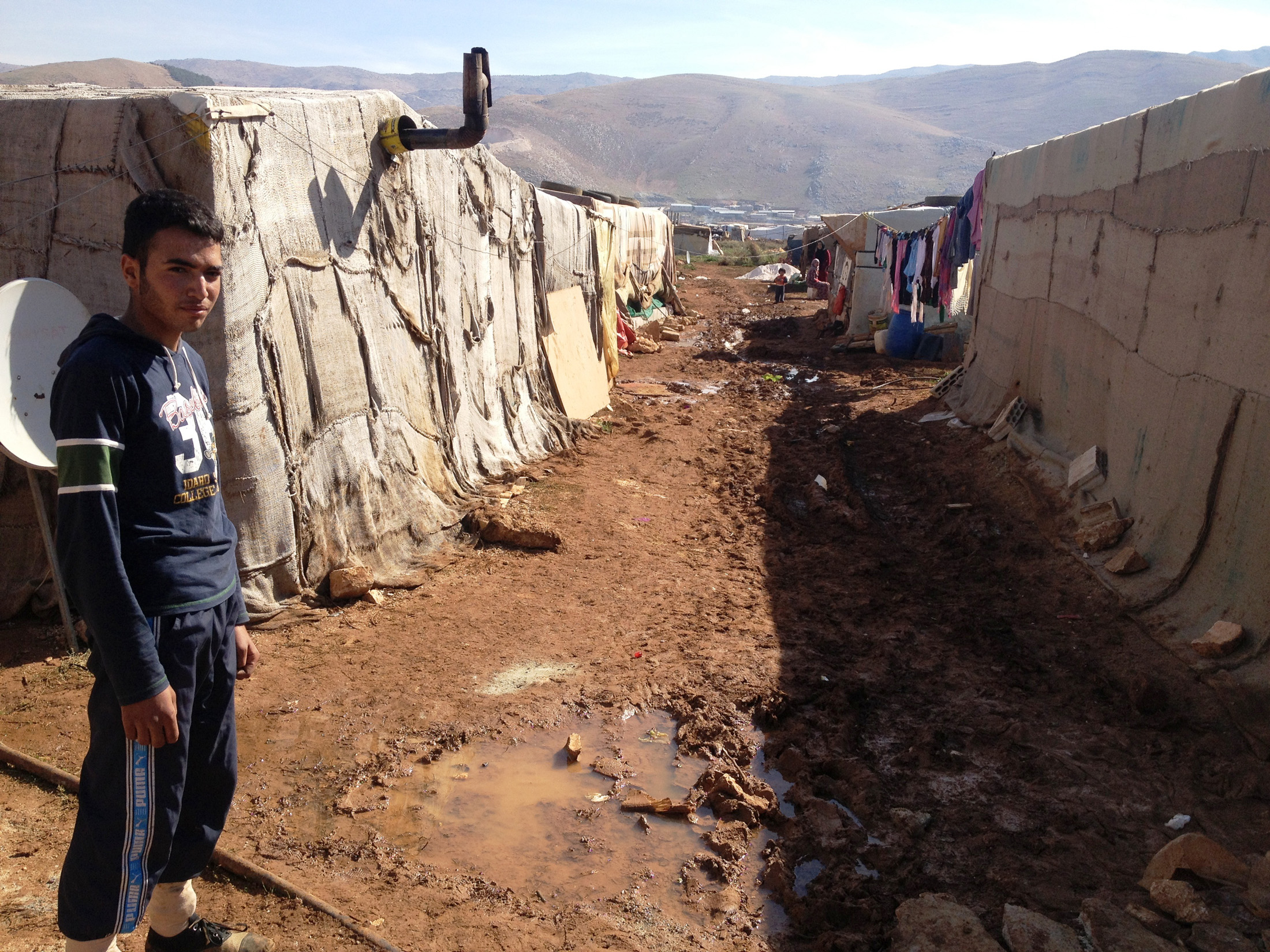 Makeshift refugee homes in Lebanon's Beka'a Valley. (Nov 2012)