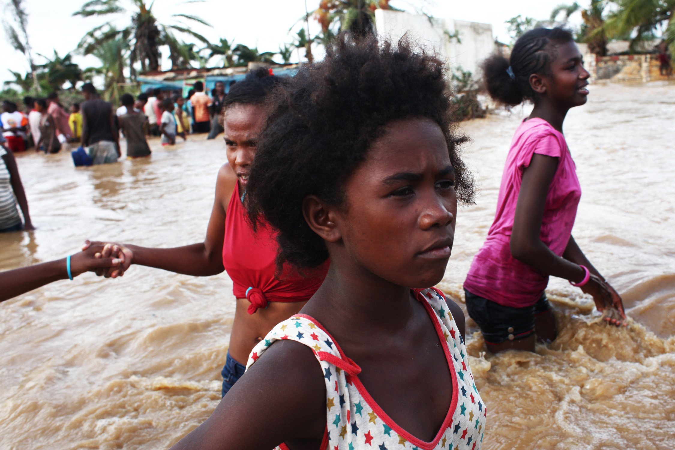 Tropical Cyclone Haruna brought widespread flooding to Toliary District in south-west Madagascar following the breaking of a dyke in the area