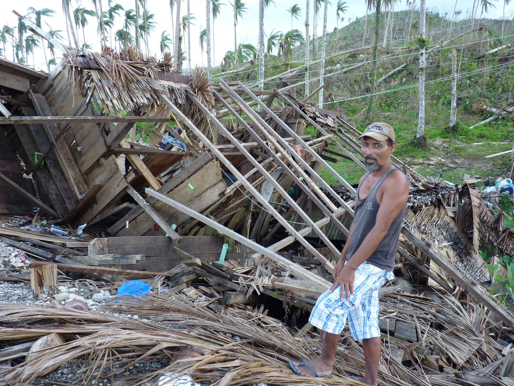 Farmer Armando Banudan lost his home, his crops and everything during Typhoon Pablo last December 2012
