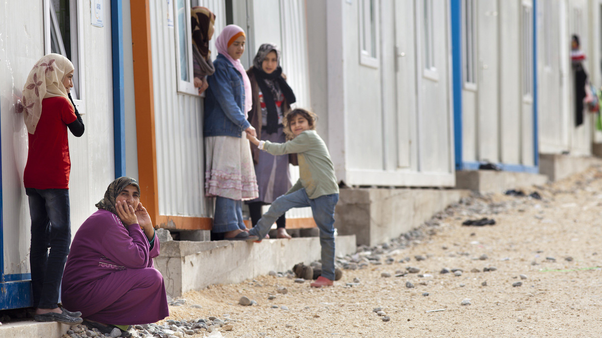 Nizip 2 Container City, the latest Turkish camp for Syrian refugees. Turkey is now hosting nearly 200,000 refugees in 17 camps along its border with Syria, at a cost of nearly $1 billion so far
