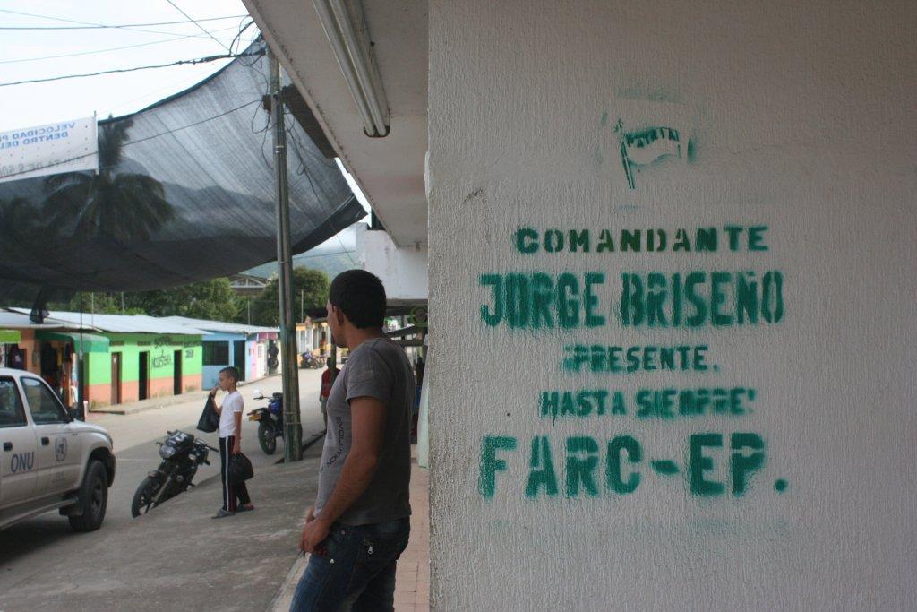 FARC graffiti in an Andean town
