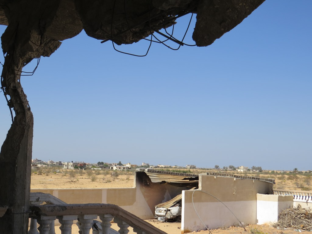 The view from a damaged home in al-Mehdiya village, North Sinai governorate. Egyptian security forces have led a months-long military campaign in the area to root out increased militancy. (Photo taken October 2013)