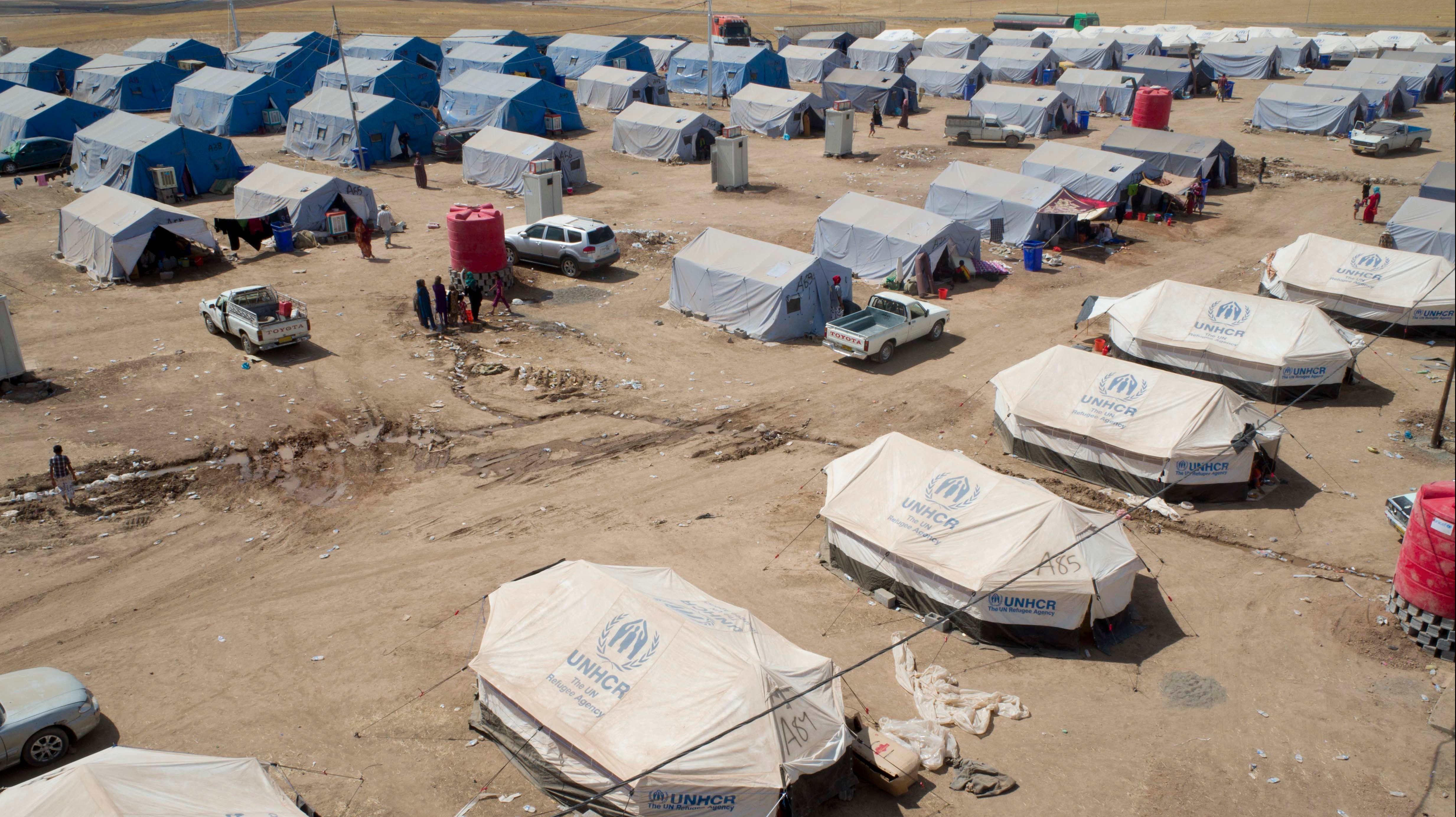 Khazair camp, on the border between central Iraq and the semi-autonomous Kurdistan region in the north, is currently home to 1,400 people displaced (IDPs) from Mosul after militants from the Islamic State of Iraq and the Levant (ISIS) took control of the