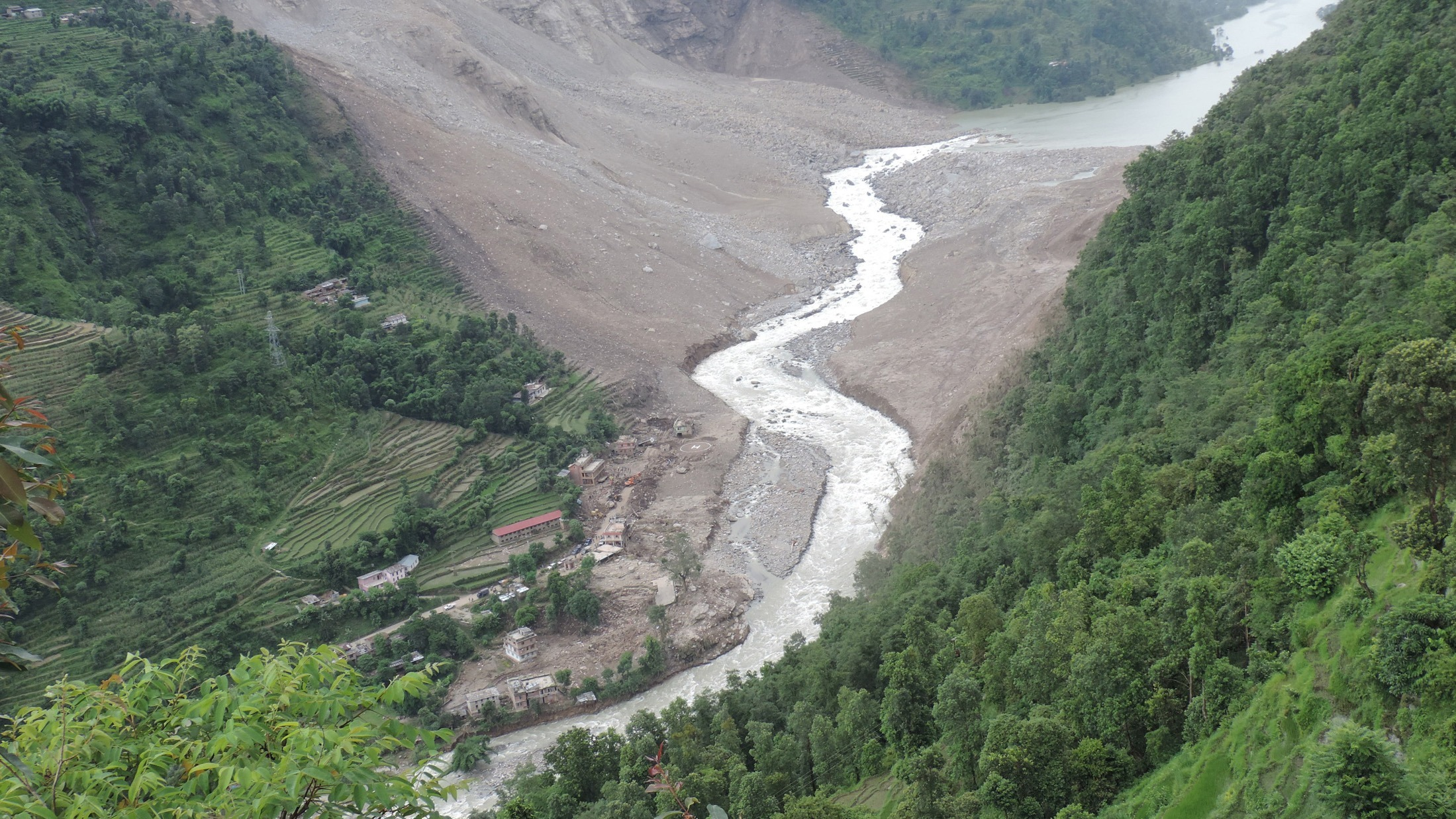 A massive landslide struck Jure village north of Nepal's capital, Kathmandu, on 2 June, displacing hundreds and killing at least 33.