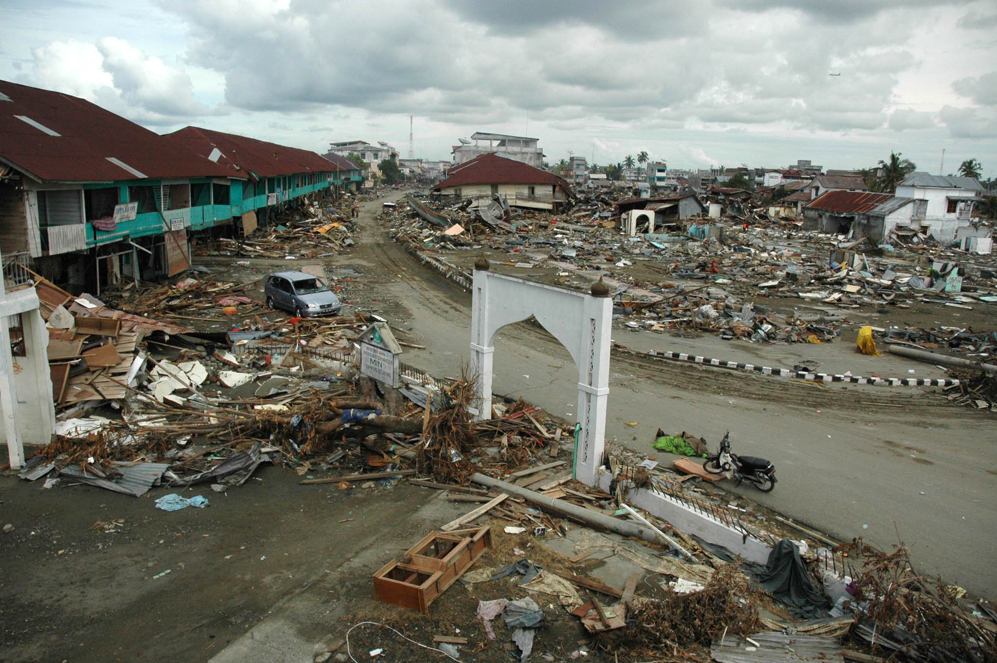 Meulaboh city in Indonesia's West Aceh after the tsunami hit (File photo 2004)