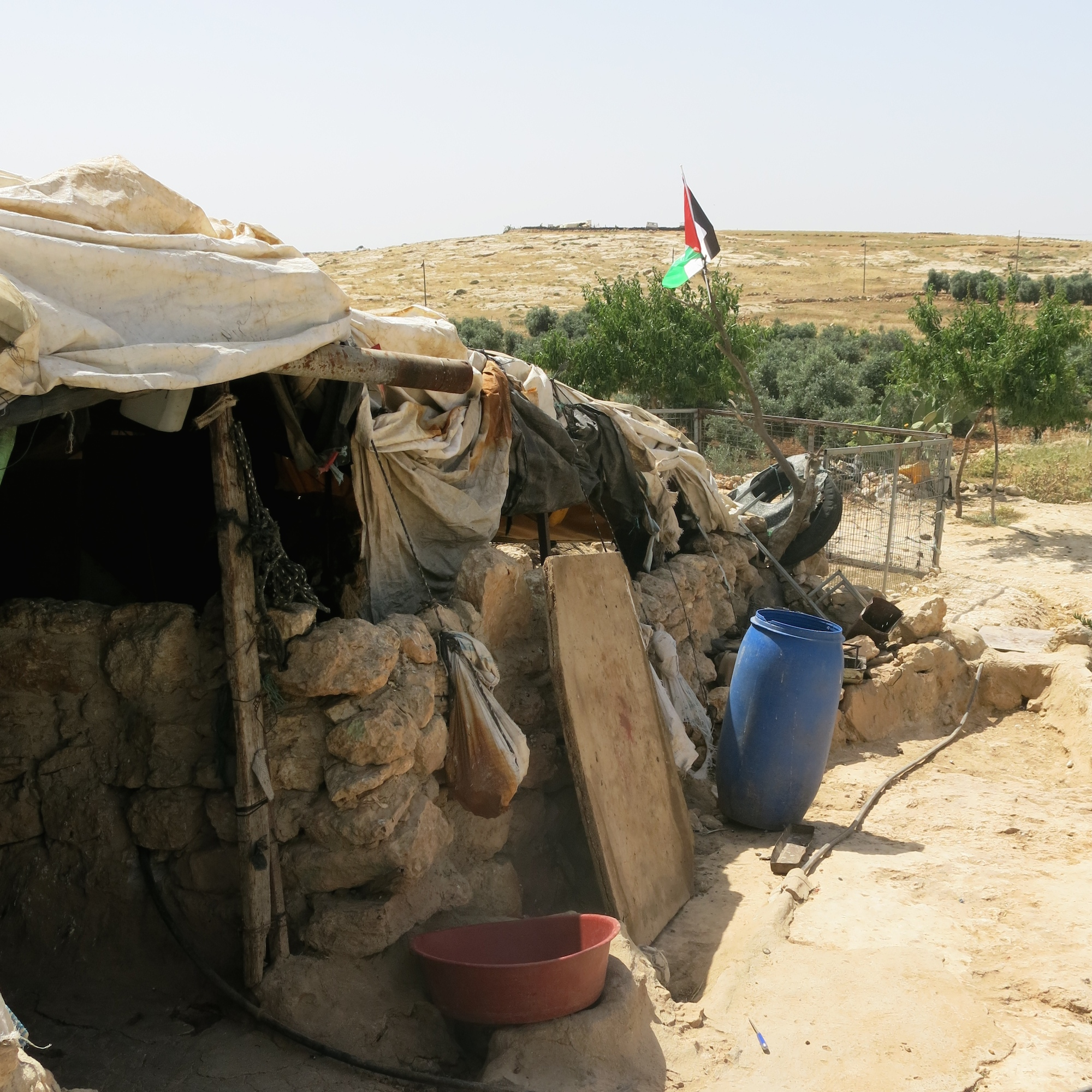 A home in the Palestinian village of Susiya, in the West Bank. It is expected to be demolished in the coming weeks.