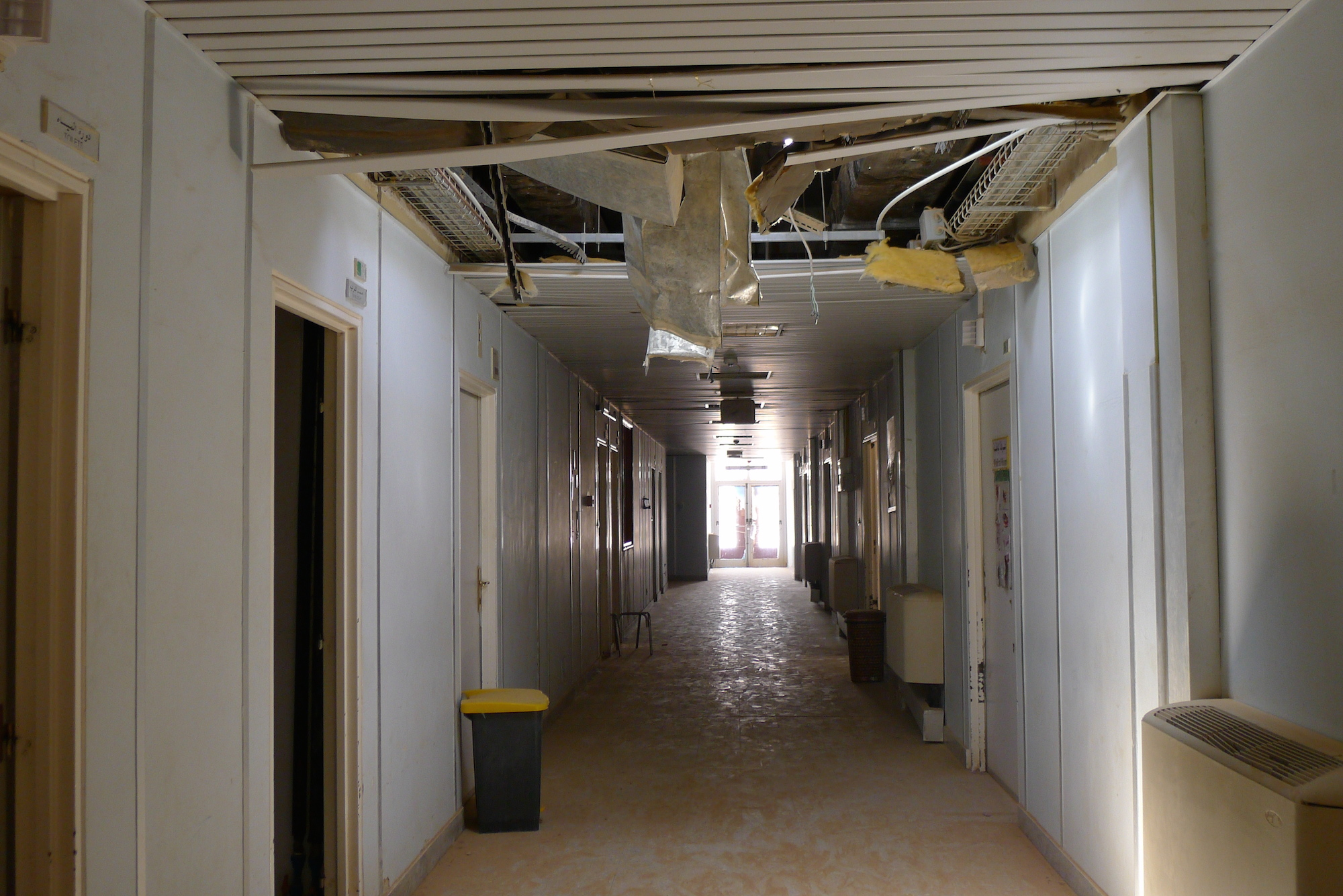 The former maternity wing of Ubari hospital in southern Libya was shelled during fighting