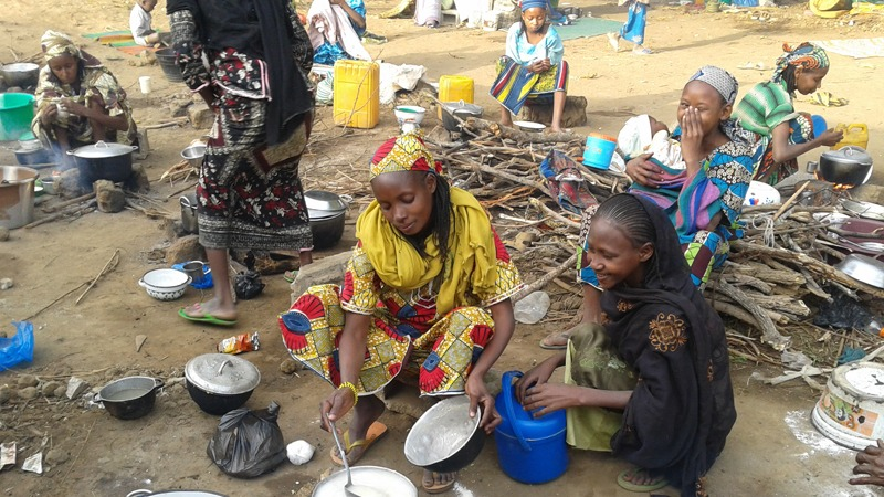 CAR refugee women at the Mborgene camp in eastern cameroon