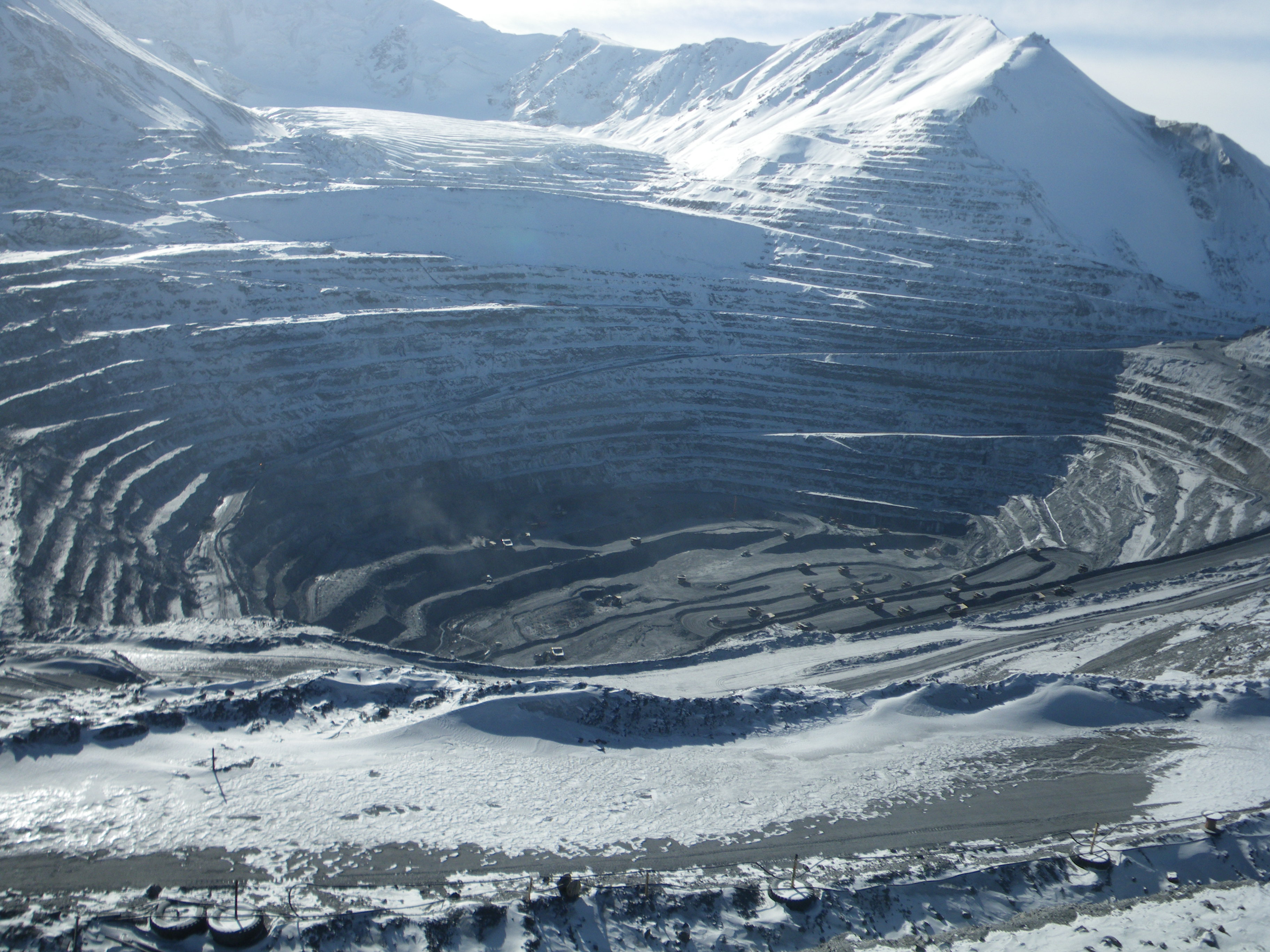 The Kumtor mine in Kyrgyzstan sits atop two glaciers