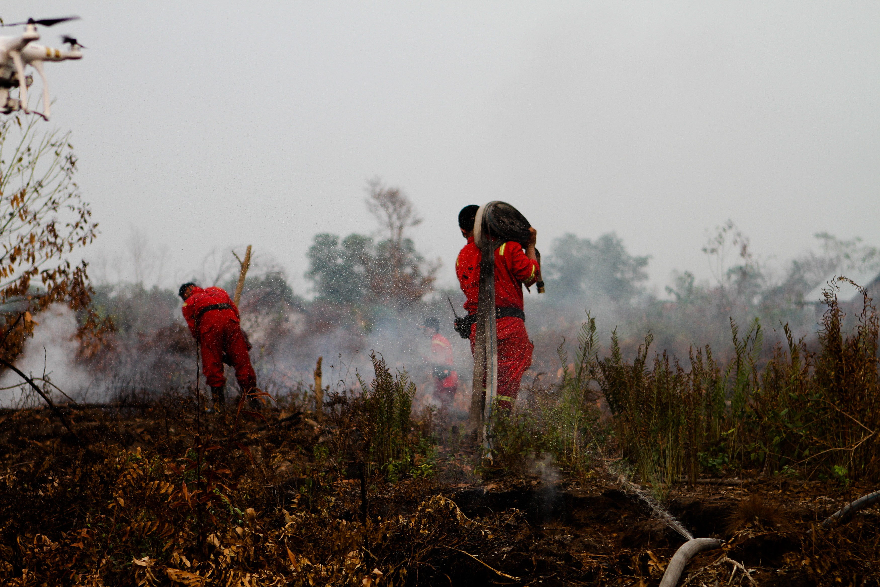 Palangkaraya, Indonesia aftermath of forest fires