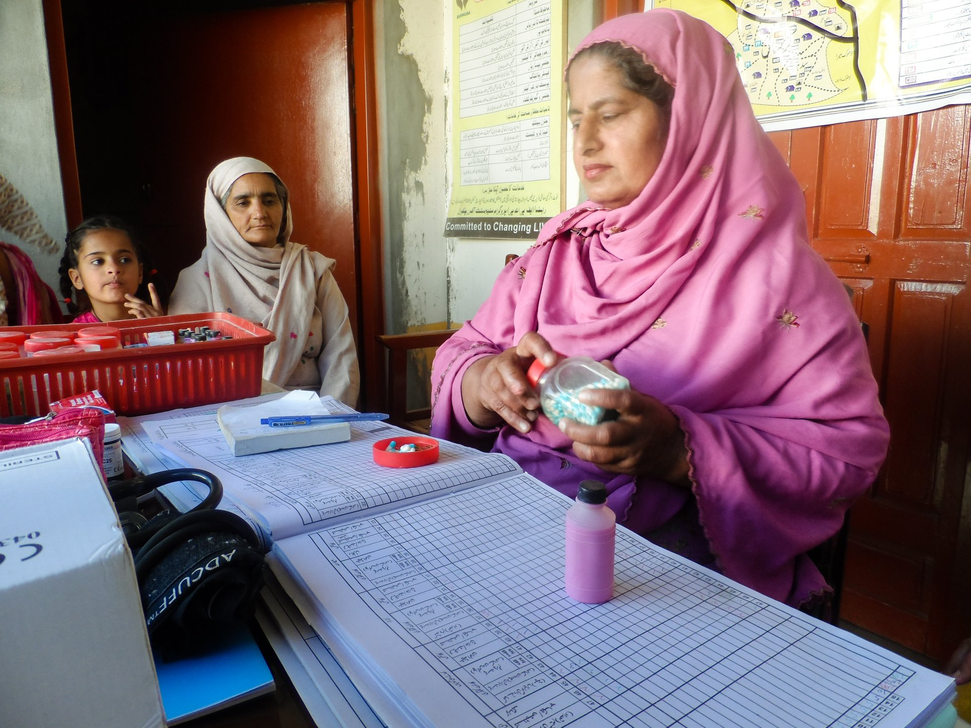 Health worker at NGO clinic in Pakistan