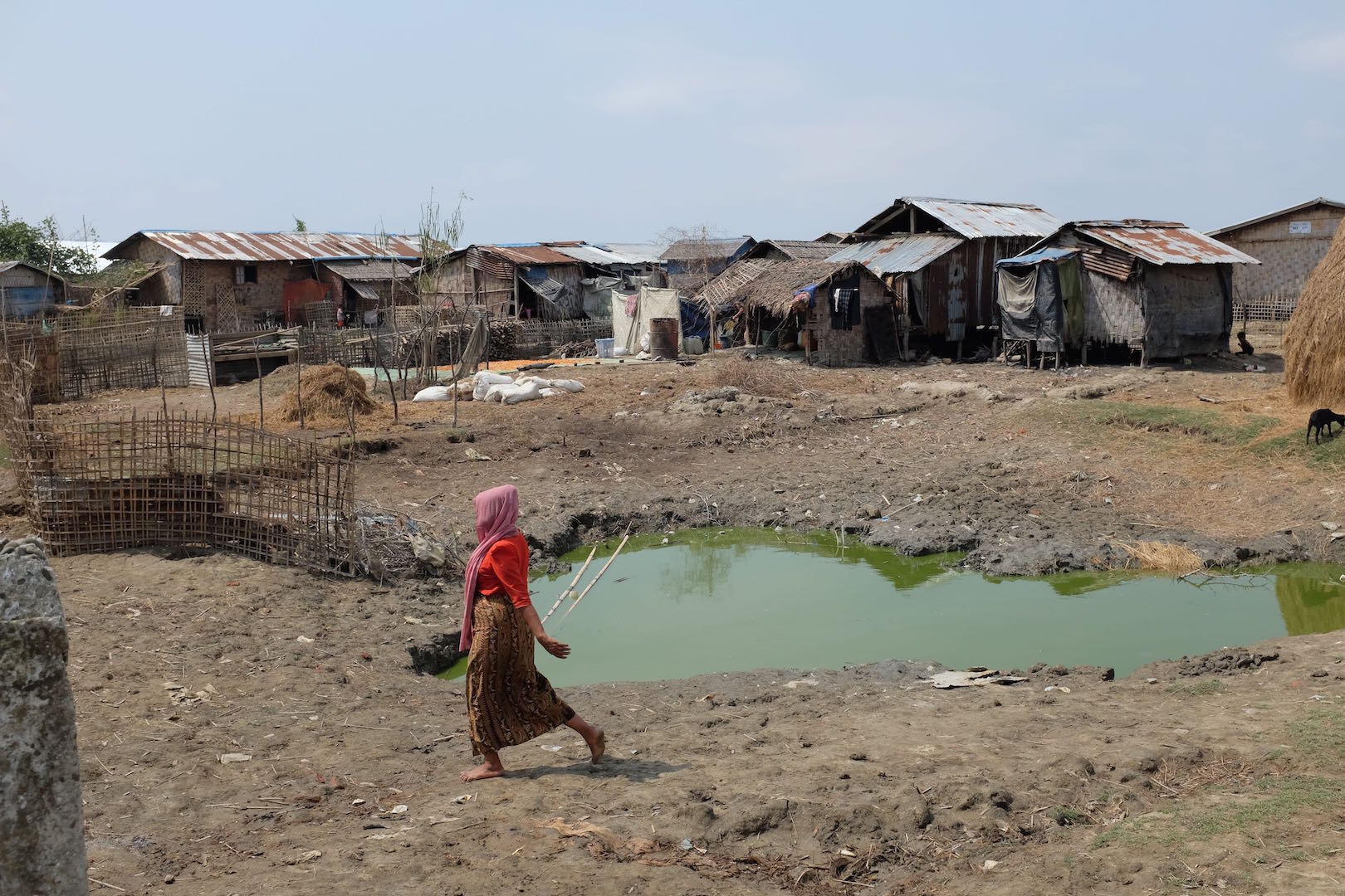 A camp in Pawktaw, Myanmar, for Rohingya displaced by violence in 2012