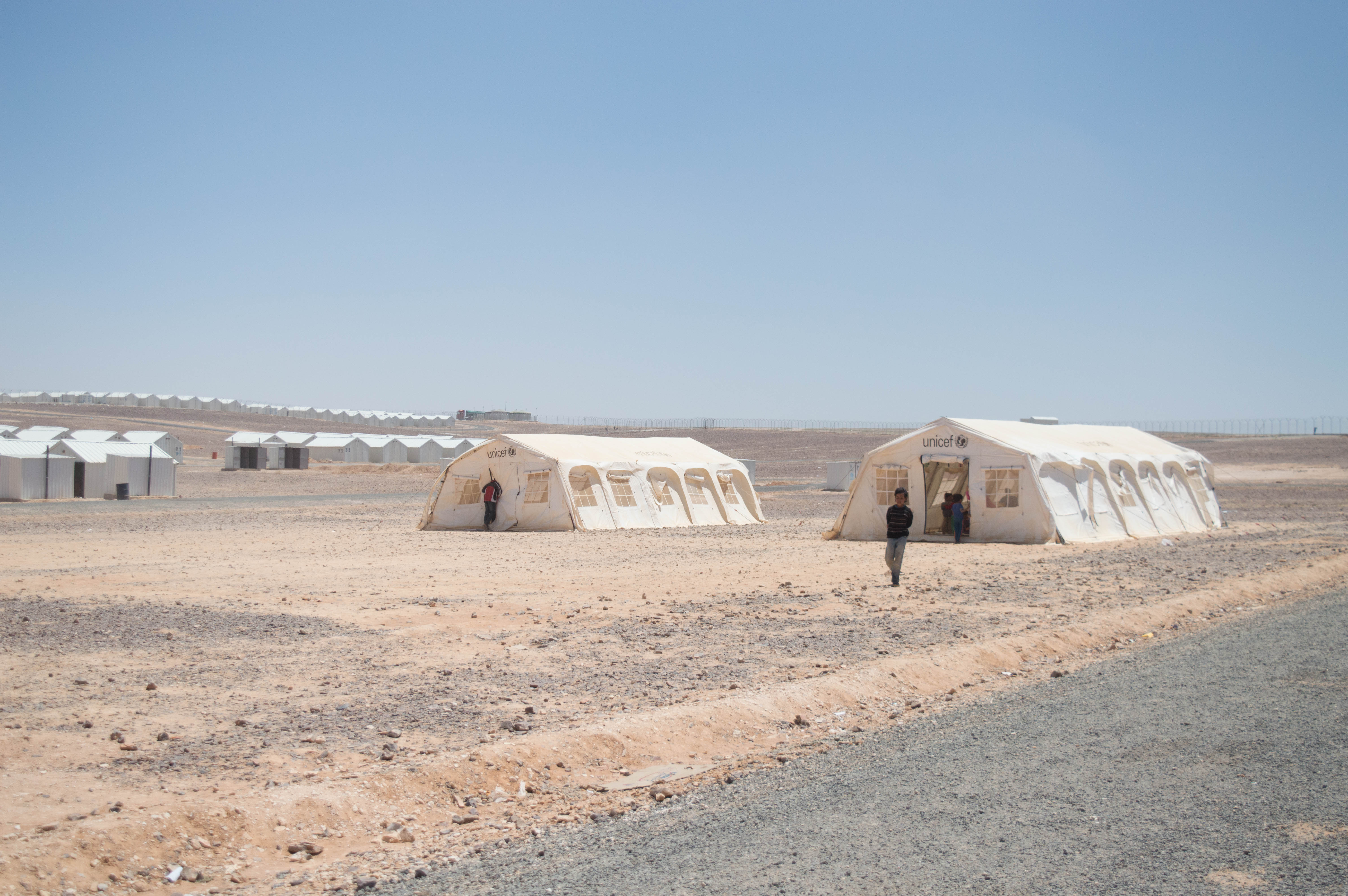 White tents