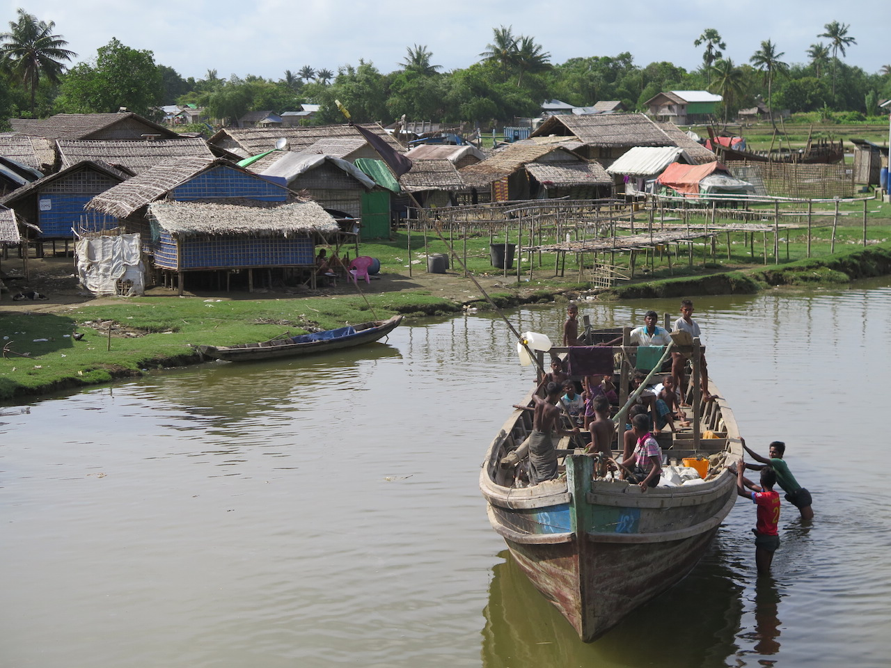 Camp for displaced Rohingya in Myanmar's Rakhine state