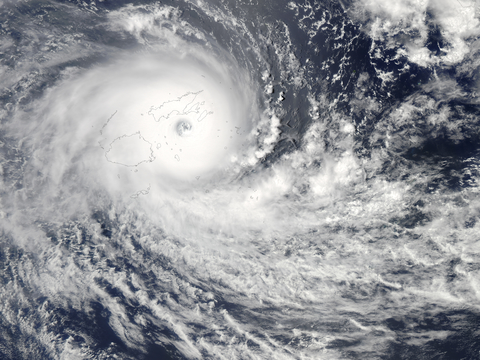 Satellite image of Cyclone Winston