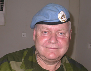 [DRC] Brig-Gen Jan Isberg, acting commander of the Ituri Brigade and deputy MONUC force commander, 2 Sept.