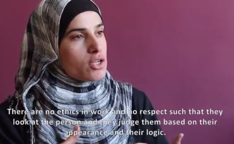A refugee in Lebanon describes her feelings towards aid agencies