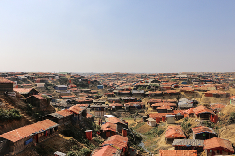 A Rohingya refugee settlement in Cox's Bazar, Bangladesh