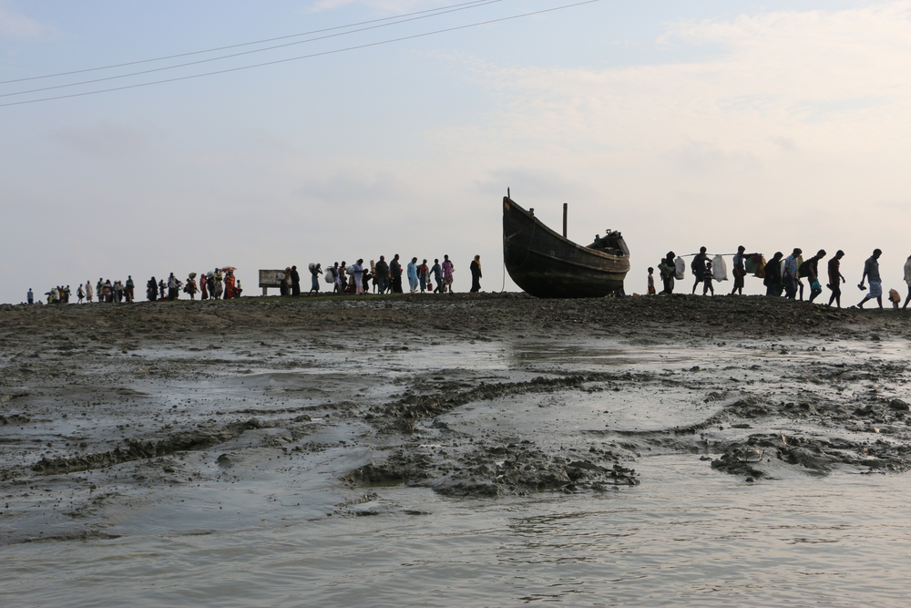Rohingya refugees arrive in Bangladesh.