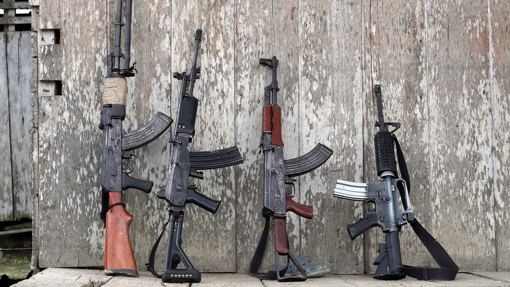 Weapons owned by Marxist National Liberation Army rebels