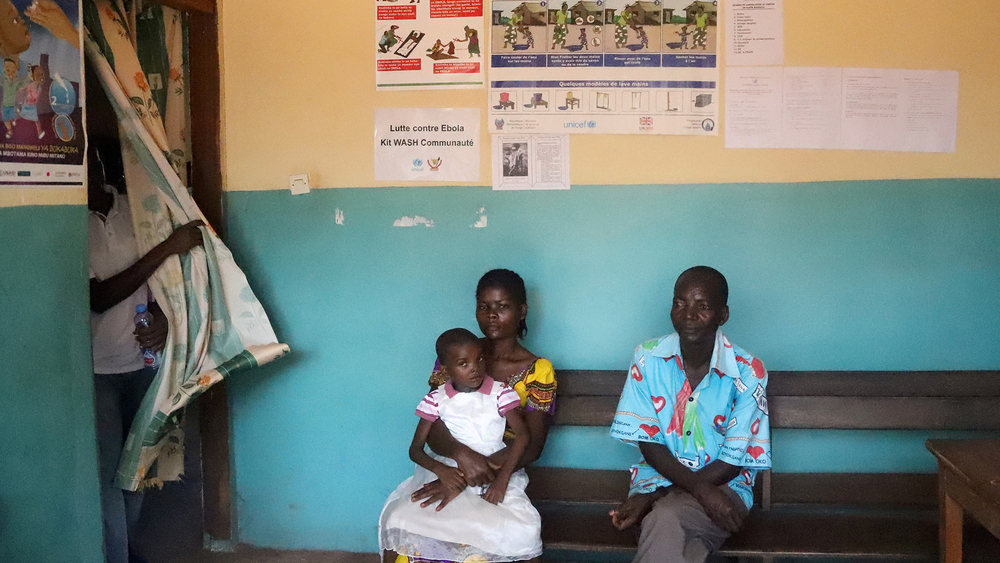 Patients at a health centre in Congo's Équateur Province