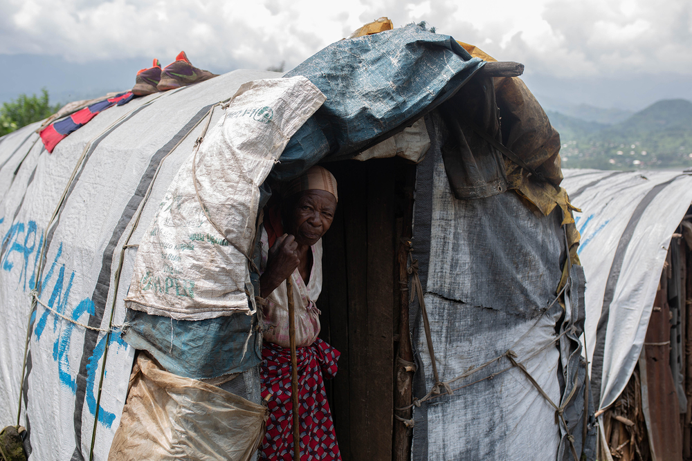 A camp for internally displaced people in the eastern town of Minova