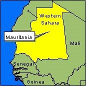 Country Map - Mauritania