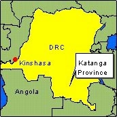 Country Map - DRC (Katanga province)