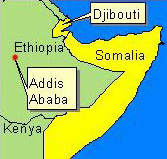 Country Map - Somalia, Djibouti
