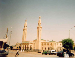 [Mauritania] The main mosque in Nouakchott- Mauritania adopted Islam as the state religion in 1991.
