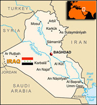 Iraq country map.