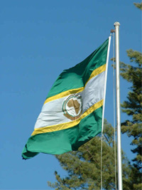 The African Union flag.