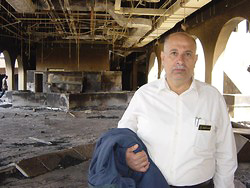 [Iraq] Manager of Sheraton in burnt out hotel.