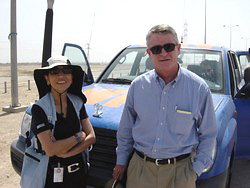 [Iraq] Top UN humanitarian staff Kim Bolduc and Kevin Kennedy on an assessment mission to Basra on Wednesday.