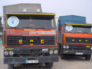 [Turkey] WFP supply trucks crossed on Friday.