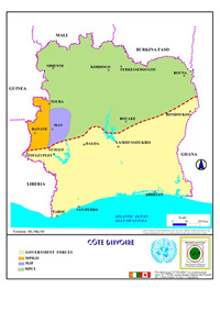 Country Map - Cote d'lvoire