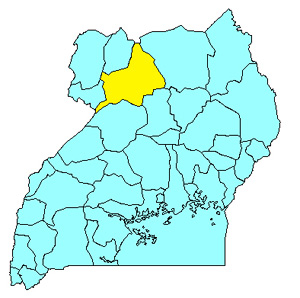 Country Map - Uganda (Gulu, Kitgum and Pader Districts)