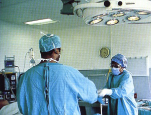 [Swaziland] Operating theatre at Mbabane government hospital.