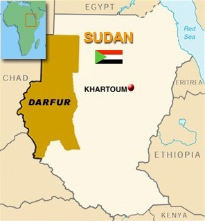 [Sudan] Country Map - Darfur region.