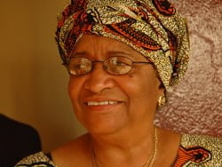 [Liberia] Ellen Johnson-Sirleaf is about to go down in the history books as Africa's first elected femal president. [Date picture taken: 11/12/2005]