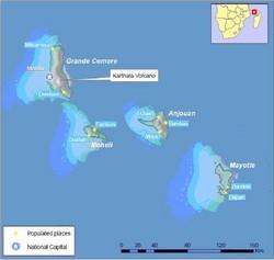 [Comoros] Comoros, Karthala volcano map.