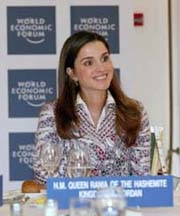 [Jordan] Queen Rania of Jordan at the World Economic Forum.