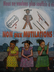 [Djibouti] A poster used by the gov't to educate mothers at clinics about the harmfuil effects of FGM.