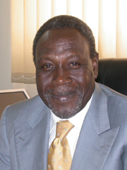 [Sudan] The head of the African Union Mission in Sudan, Ambassador Baba Gana Kingibe. 18 July 2005.