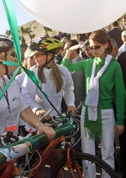[Syria] The women's bike ride in 2004 across the Middle East managed to raise awareness of gender issues in the region.