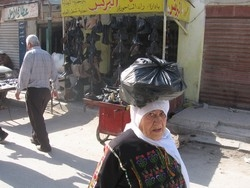 [Jordan] An elderly Palestinian refugee woman from Baqaa refugee camp, 20 km west of Amman. [Date picture taken: 10/15/2006]