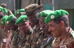 [Sudan] African Union peacekeepers in South Darfur. [Date picture taken: Aug 2005]