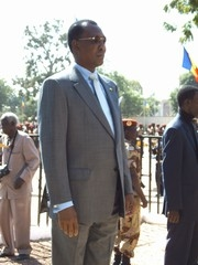 [Chad] Chadian President Idriss Deby during a military ceremony, December 2005.