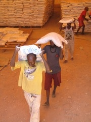 [Ethiopia] Food aid being unloaded in Gode.