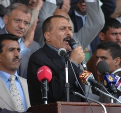 President Ali Abdullah Saleh of Yemen said he was bowing to popular pressure to seek re-election in September, 24 June 2006. Saleh changed his mind and accepted his party's nomination as the presidential candidate of the General People's Congress GPC, say
